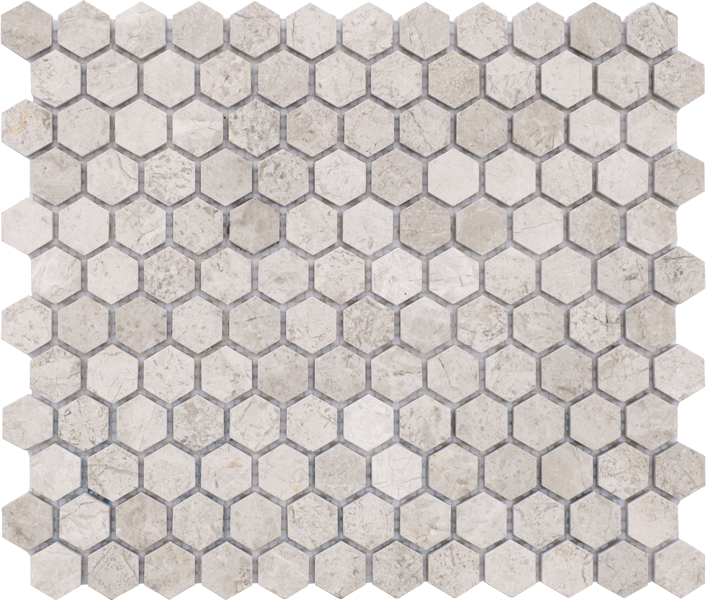 TUNDRA GREY HONED HEX MOSAIC
