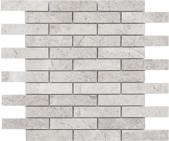 TUNDRA GREY HONED MOSAIC 1 x 4