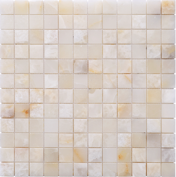 WHITE ONYX POLISHED MOSAIC