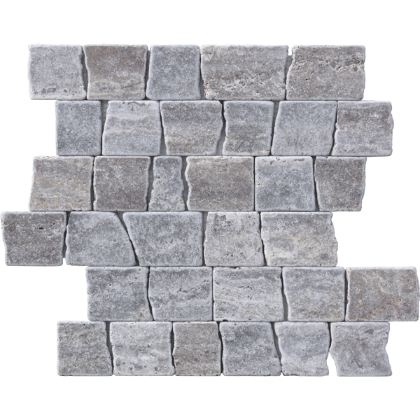 SILVER RUSTIC GRIS OSSIDO TUMBLED