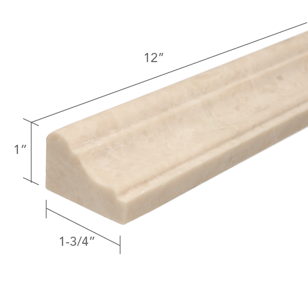 CREMA ELLA HONED CORNICE