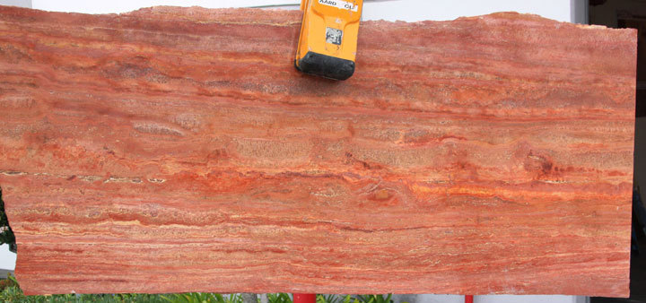 Rosso Sedona vein-cut Polished