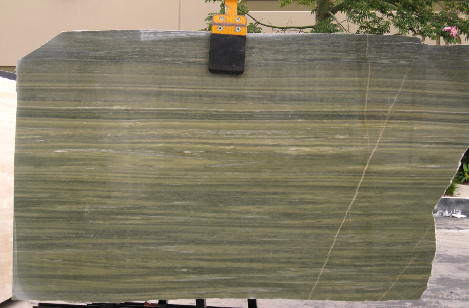 "Verde Laguna 3/4"" polished  & Vein-Cut"